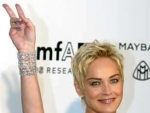 Sharon Stone Goes Swinging With Her Kids