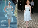 "Jessica Chastain In Christian Dior Couture – ""The Debt"" New York Screening"
