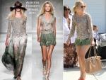Sidewalk Style: Kristen Bell In Alberta Ferretti