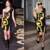 Sidewalk Style: Lady GaGa In Versace