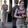 On The Set Of Gossip Girl With Leighton Meester In Dolce &amp; Gabbana