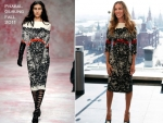 "Sarah Jessica Parker In Prabal Gurung – ""I Don't Know How She Does It"" Moscow Photocall"