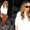 Sidewalk Style: Ciara's Equipment Shirt & Rag & Bone Leather Pants