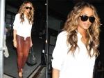 Sidewalk Style: Ciara's Equipment Shirt & Rag & Bone Leather Pants