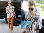 LAX Style: Fergie's Balenciaga Shirt, Versace Sunglasses & Celine Tote