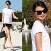 Sidewalk Style: Miranda Kerr's Leather Shorts & Miu Miu Bag