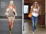 Sidewalk Style: Rosie Huntington-Whiteley's Isabel Marant Vest & Alexander Wang Emile Tote