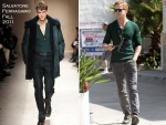Sidewalk Style: Ryan Gosling In Salvatore Ferragamo