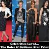 Most Worn Designer of 2011 – Dolce & Gabbana