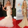 Elle Macpherson In Zac Posen & Roberto Cavalli – 2012 Golden Globe Awards