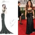 Salma Hayek In Gucci – 2012 Golden Globe Awards