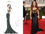 Salma Hayek In Gucci – 2012 Golden Globe Awards