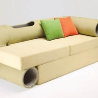 Cat Tunnel Sofa: Smart Space-Saving Hybrid Furniture
