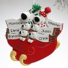 Personalized Ornaments of Polar Bear Family