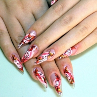 Floral Perfect Wedding Nail Designs