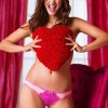 Barbara Palvin Models Valentine Lingerie For Victoria&#8217;s Secret 2013