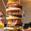 Huge Burger Challenging to Finish