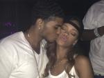 Rihanna Shares a Kiss with Mystery Man