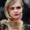 Cara Delevingne Wears Black Lace Burberry Dress at Cannes Film Festival