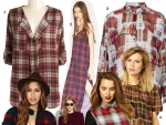 Get Celeb Look: Plaid Pattern Play