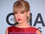 Taylor Swift Wears CMA Fashion Pinnacle Red Elie Saab Gown