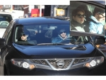 Anne Hathaway with her Super Car Nissan Murano Pictures