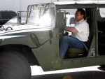 Arnold Schwarzenegger Super Car Hummer Photos
