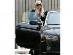 Lindsay Lohan with her Audi A5 Convertible Photos
