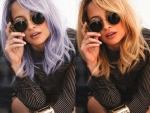 Nicole Richie Dyes Hair Purple
