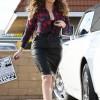Khloe Kardashian in hot Tight Leather Pencil Skirt