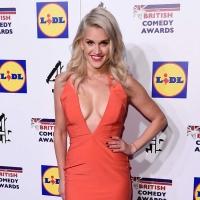 Ashley Roberts in a daring low-cut dress at British Comedy Awards 2014