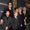 Brad Pitt and His Kids Hit the Red Carpet for Angelina Jolie