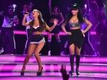 Ariana Grande Performs With Nicki Minaj At NBA All-Star Game