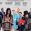 British Prime Minister David Cameron claims he is Kim Kardashian's 13th cousin