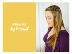 DIY Hair Tutorial WATERFALL BRAID