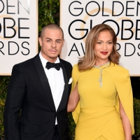 Casper Smart and Jennifer Lopez at Golden Globes 2016