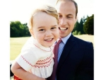Prince George Smiling Photo with Queen Elizabeth & Prince William