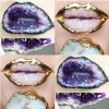 3D Crystal Lip Art Beauty Trend