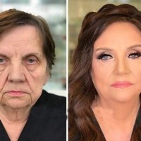 Wonderful Makeup Artist Makes Old Young