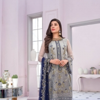 Embroidered Chiffon Collection 2020 by Flossie