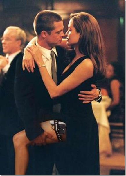 brad pitt and angelina jolie in mr and mrs smith picture