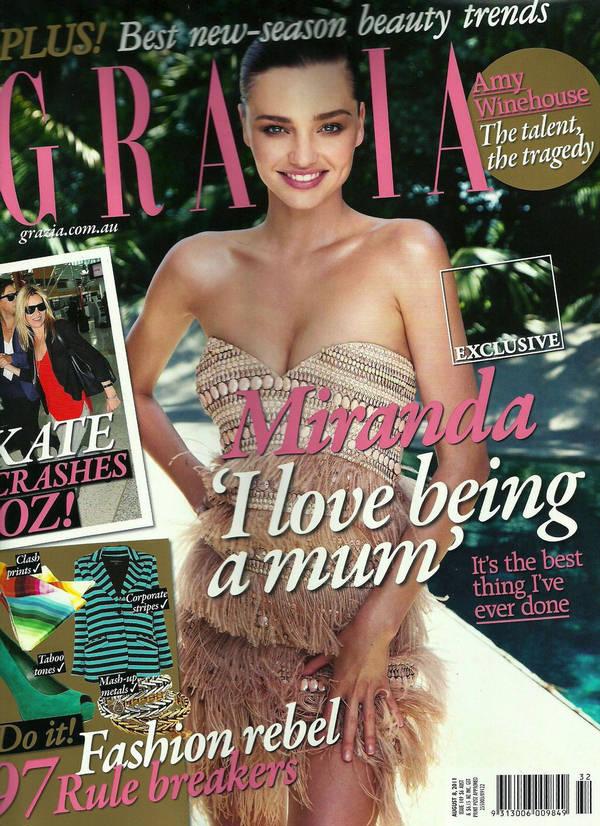 Miranda Kerr Grazia Australia August
