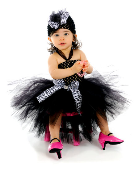 Black special occasion dresses for baby girls