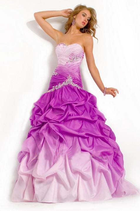 Purple Special occasion dresses 2012