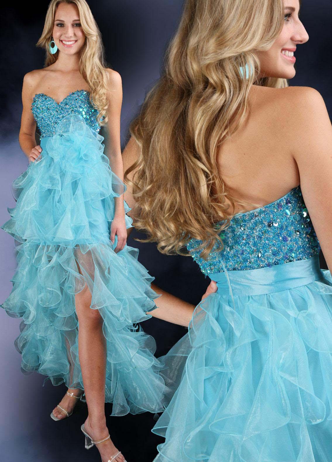 Sky blue Special occasion dresses 2012