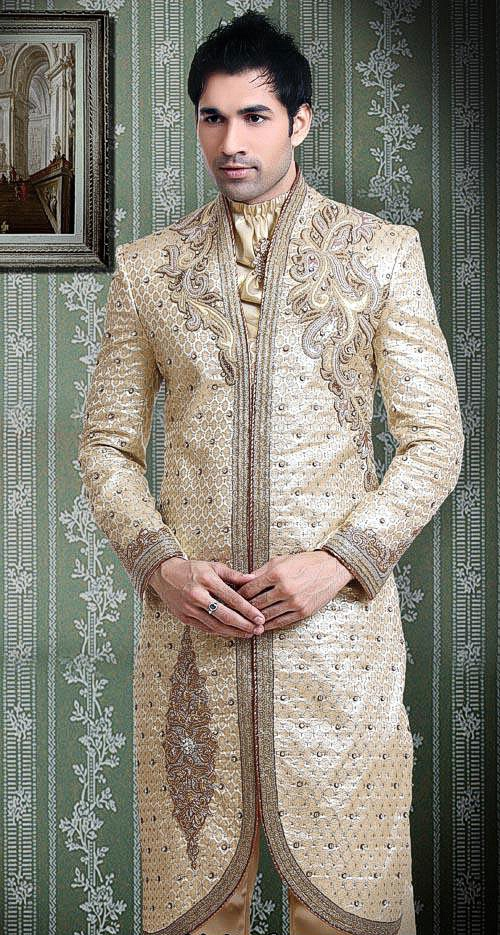 white / Golden Special occasion dresses for Men Styles