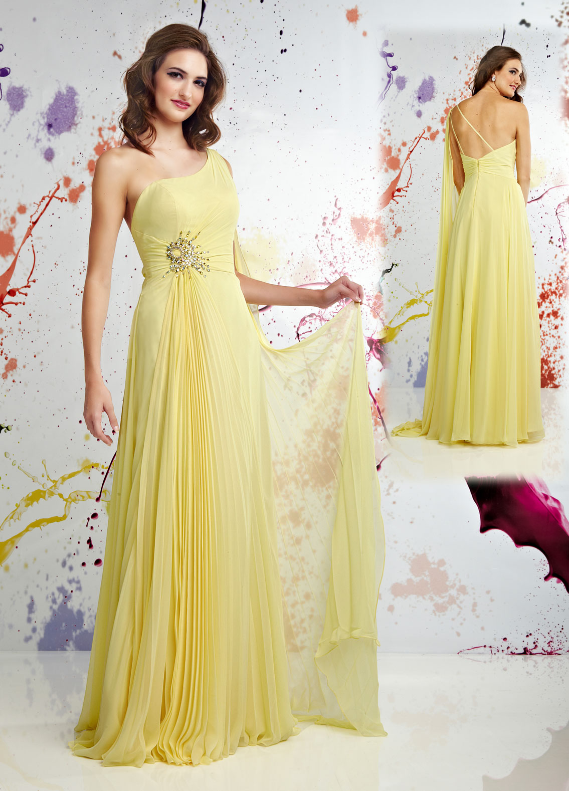 Yellow special occasion dresses