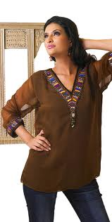 Brown kurti designs in USA