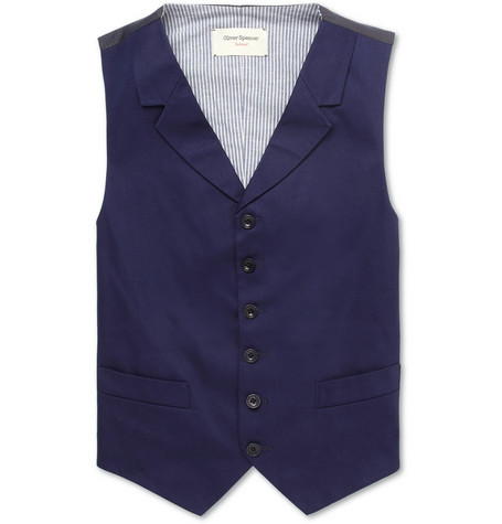 Cotton Twill Suit Waistcoat