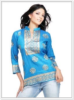 Blue Kurti Design